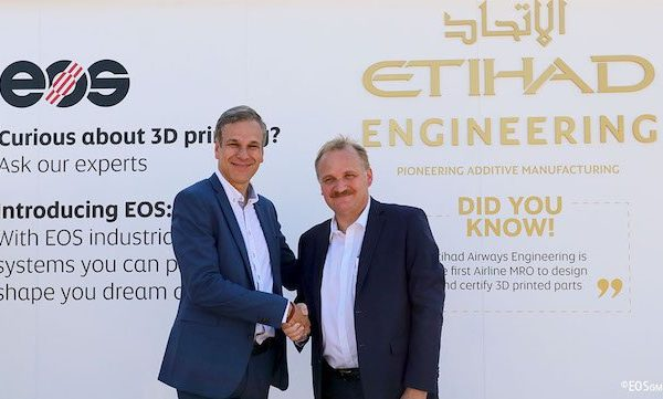 Etihad Partners With EOS Systems For Printing Airplane Interiors