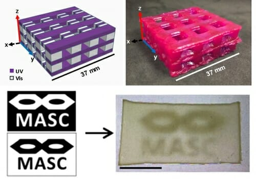 Controlling Light Wavelengths Allows Multi-material Printing
