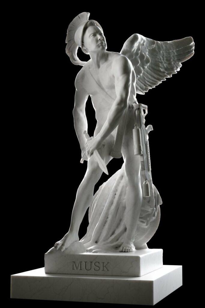 3D Printed Statues Depict Famous CEOs as Mythological Figures