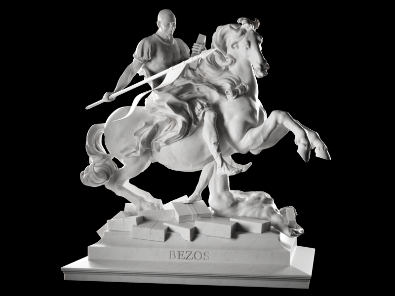 3D Printed Statues Depict Famous CEOs as Mythological Figures