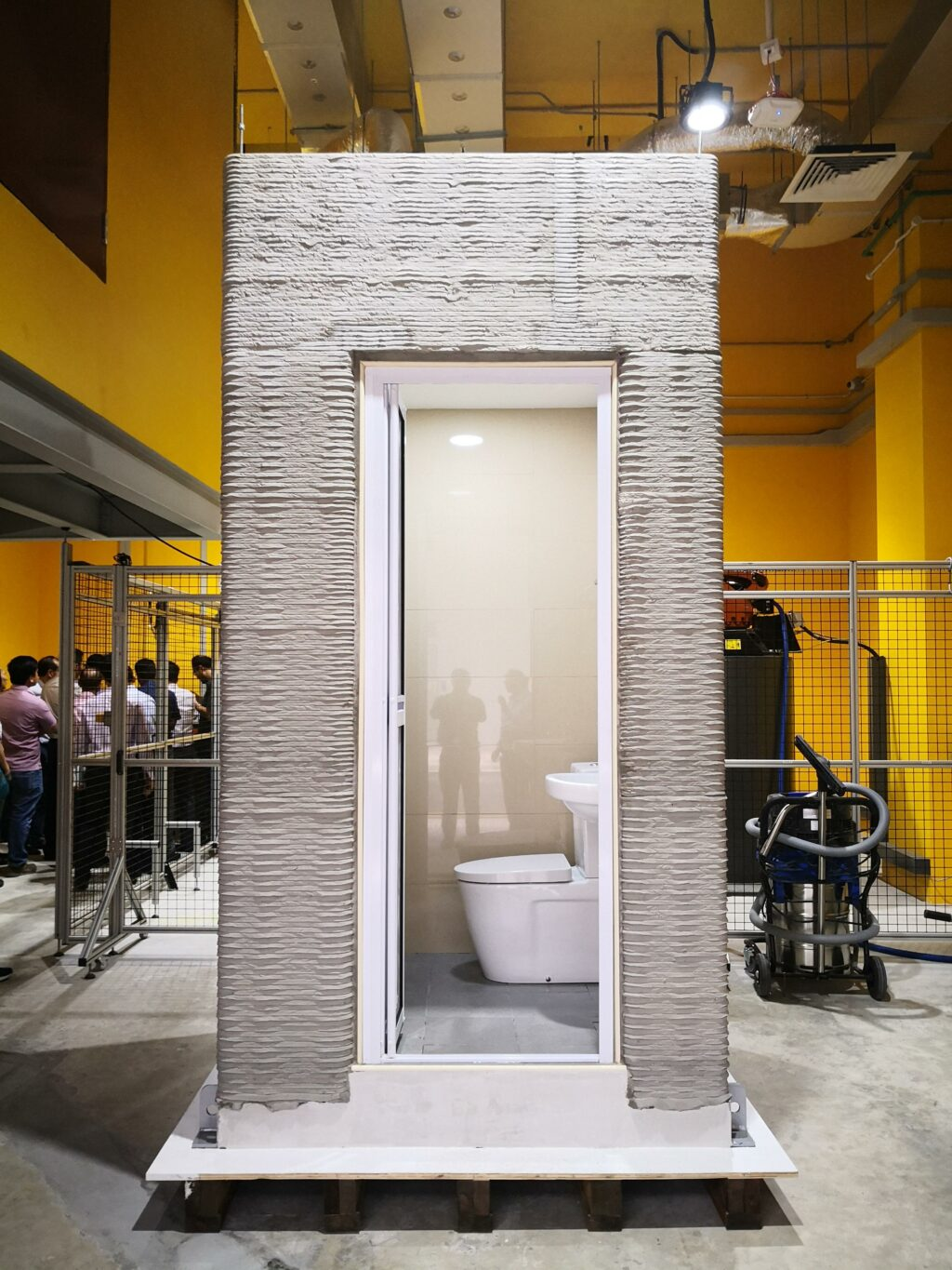 Bathroom Units Developed by NTU in Record Time with Concrete 3D Printer