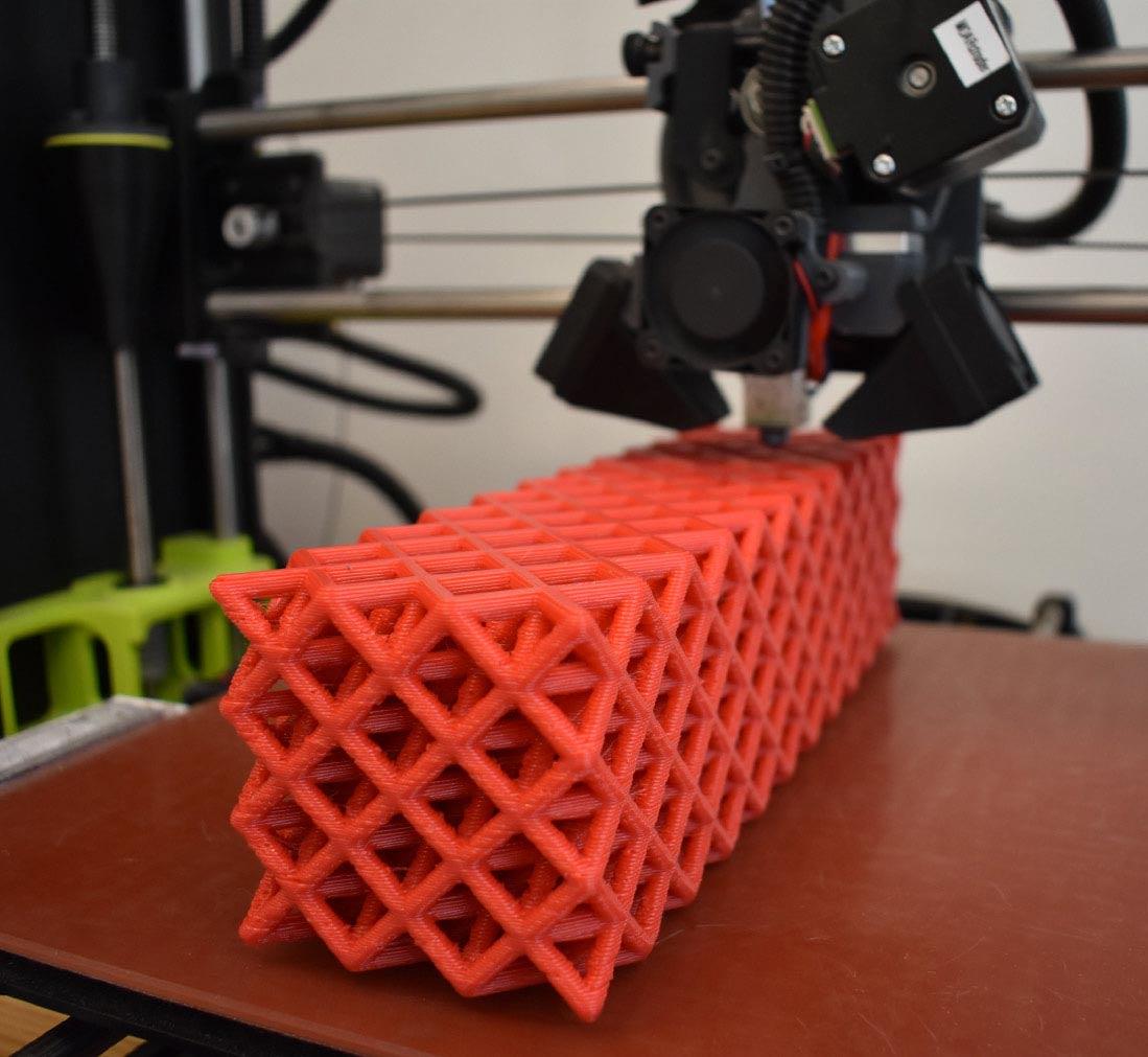 3D printed plastic rebar