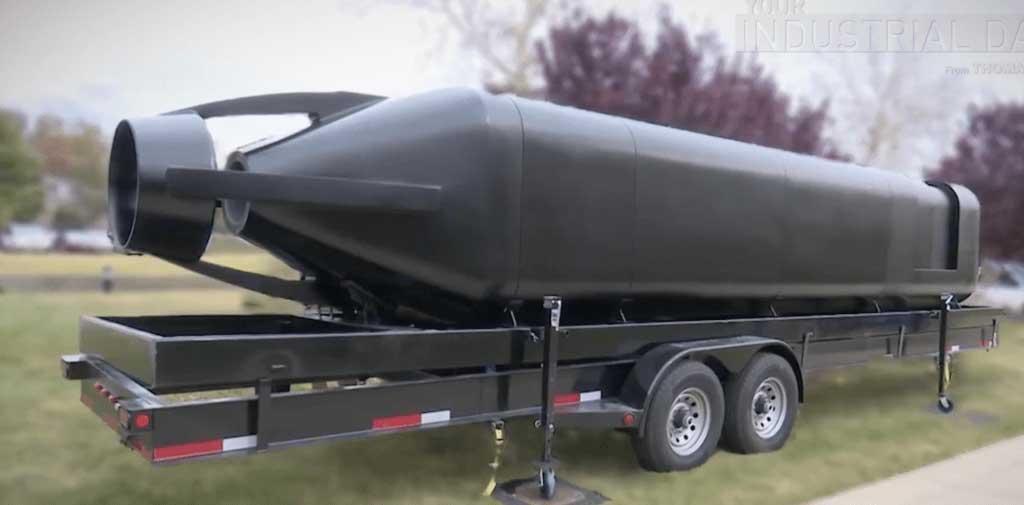 3D printed submarine hull