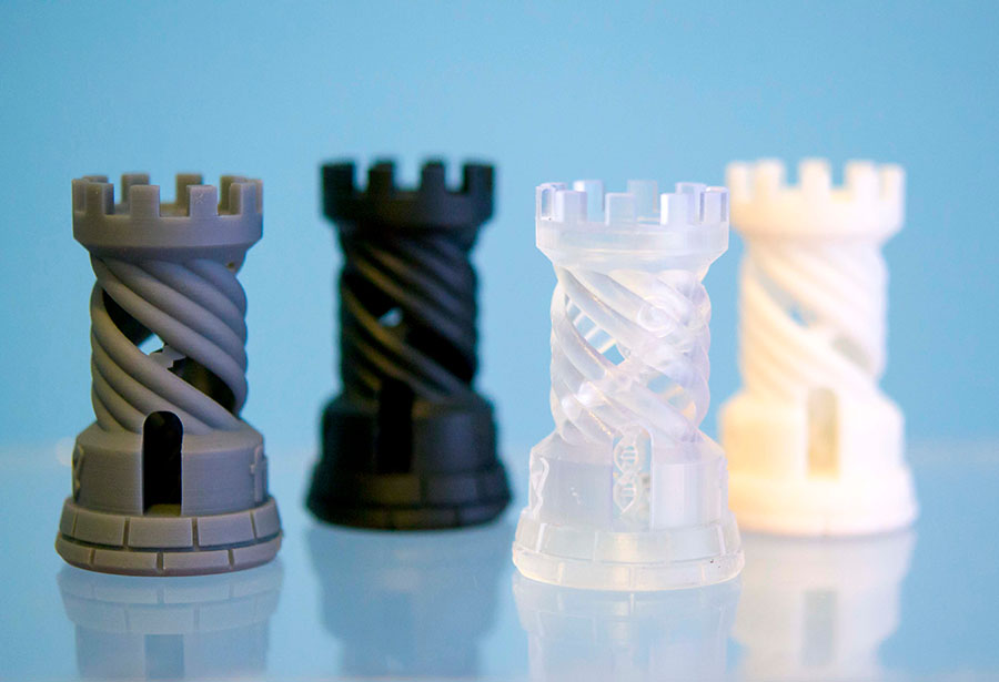 3D Printed Parts Variety Dymax Bomar Oligomers