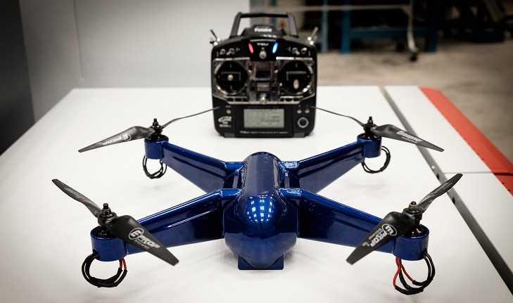 3d printed drone with embedded electronics