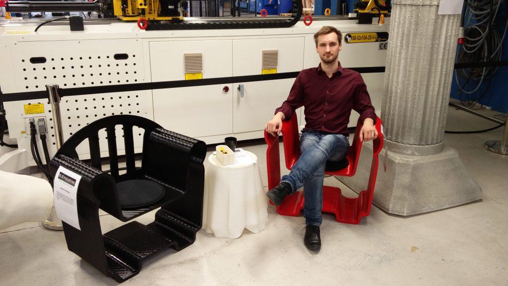 3d printed armchair blb industries