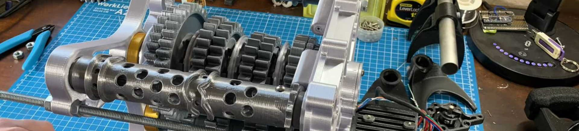 3D Printed Working Model of an F1 Gearbox