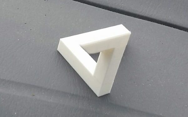 Man 3D Printed Impossible Triangle