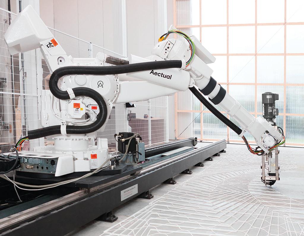 Aectual dutch floor 3d printer robot