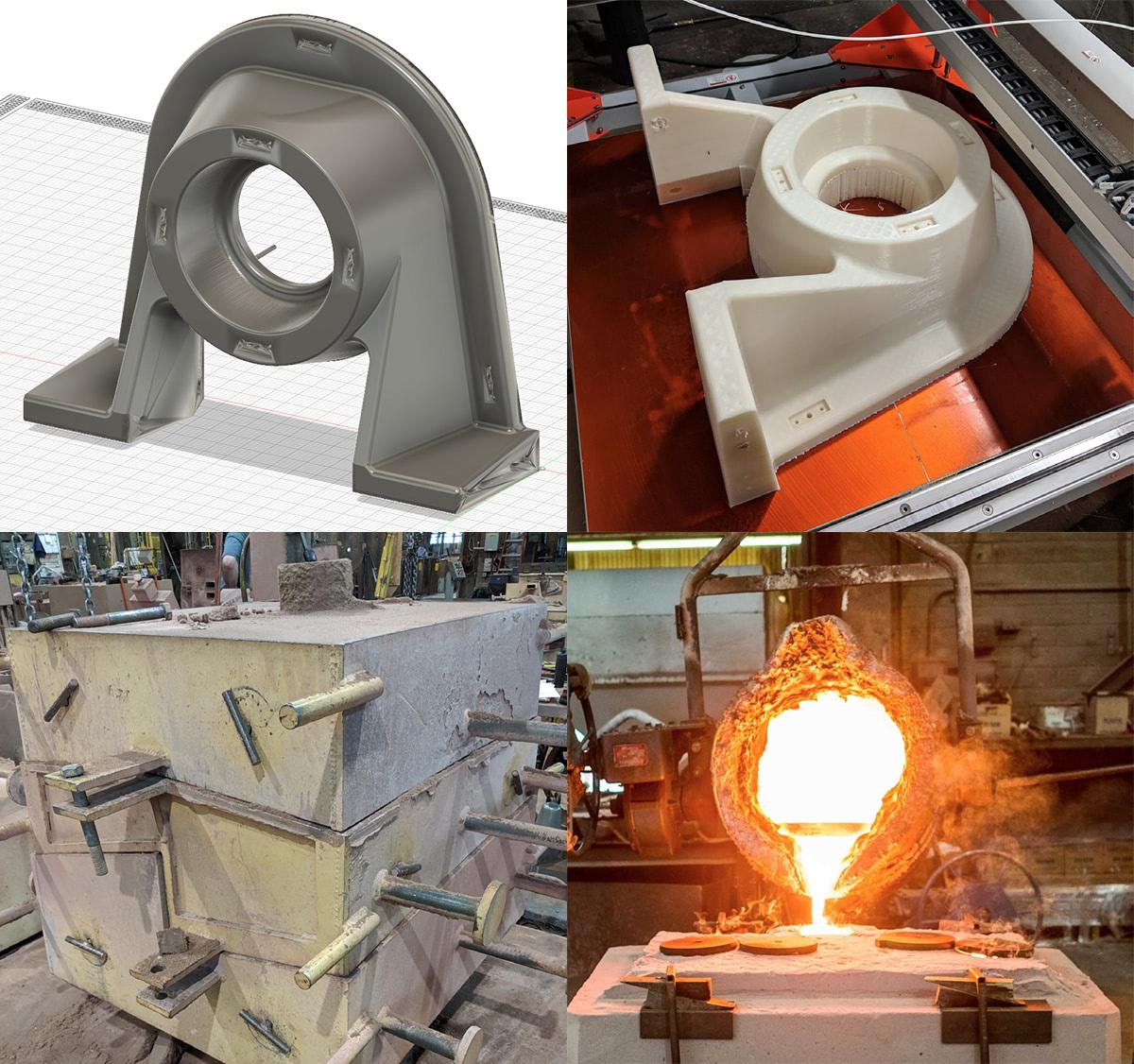 BIGREP jc steele sand casting workflow