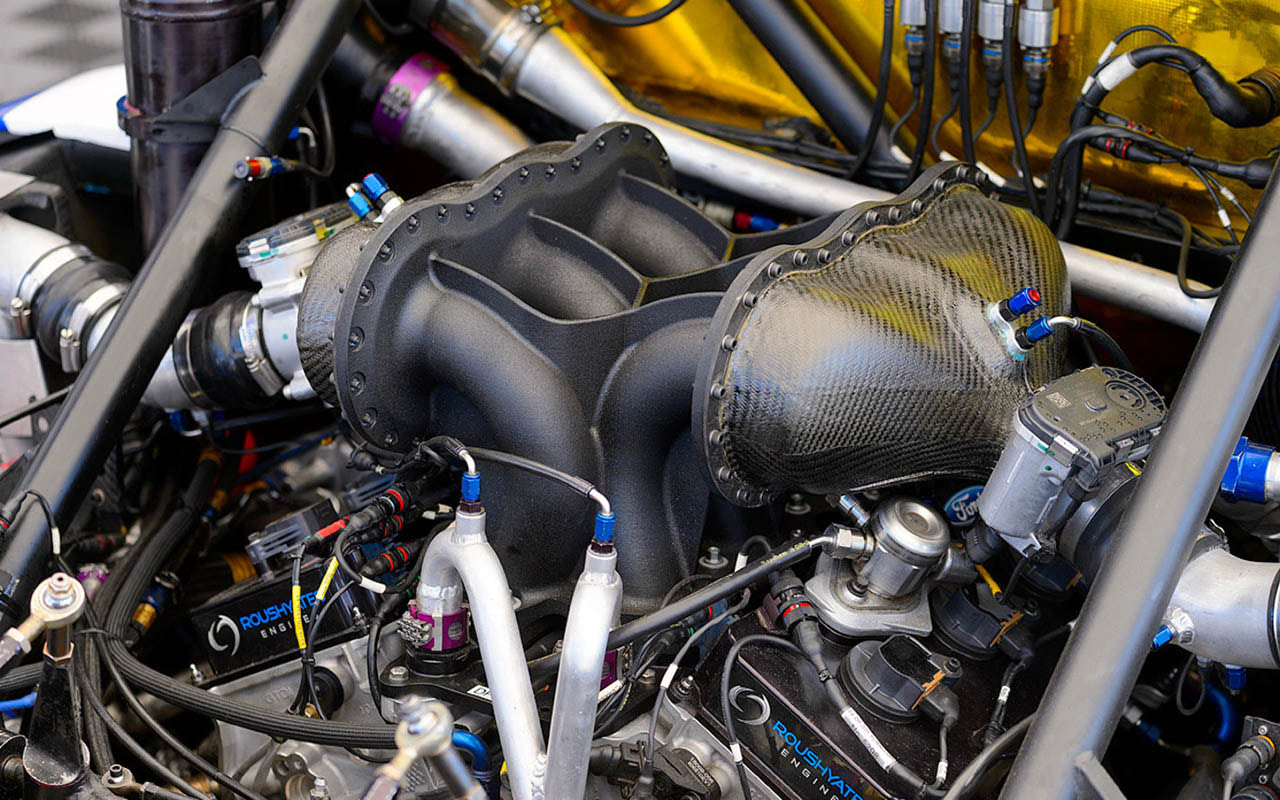 Ford GT 3D Printed intake manifold on Le Mans-winning Ford GT race car