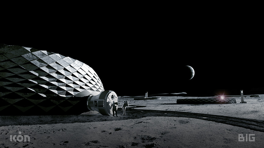 ICON render moon house