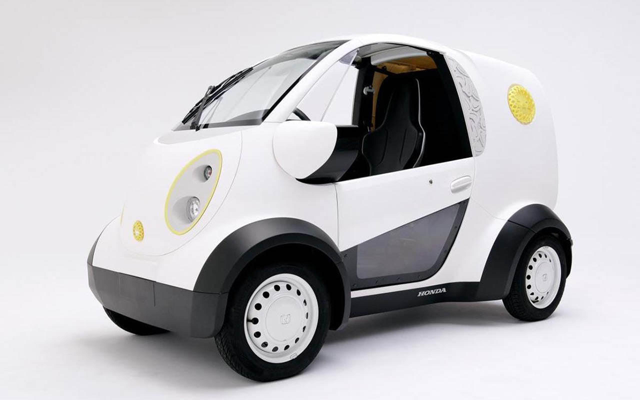 Micro-electric Honda Car with 3D printed body panels