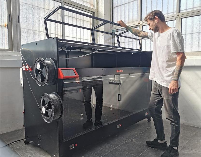 Modix 180X 3d print car parts