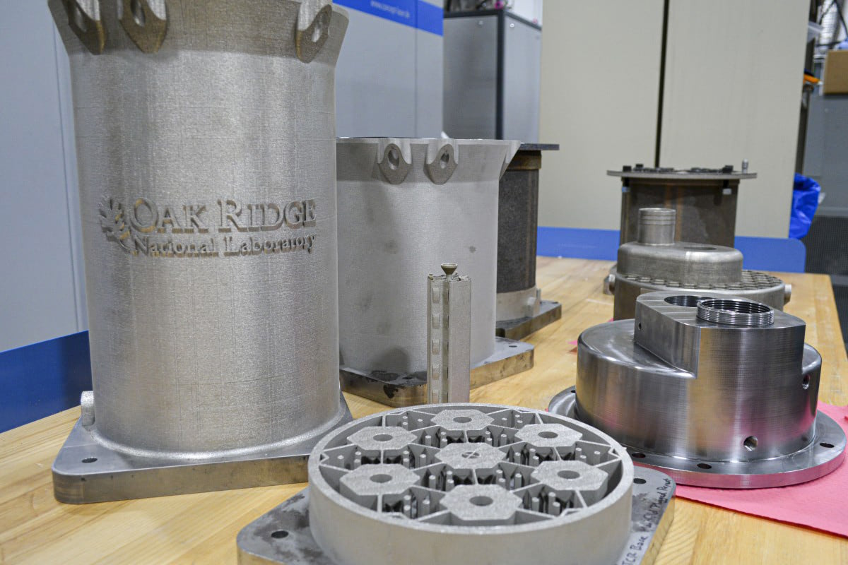 ORNL 3D printed steel reactor core