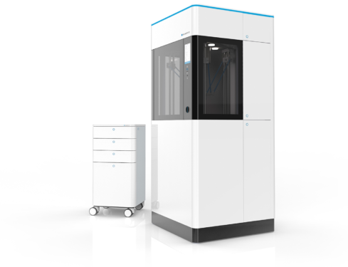 Kumovis R1: 3D Printer with an Integrated Cleanroom