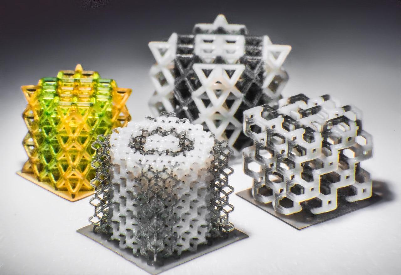 UConn 3d printed lattics structures