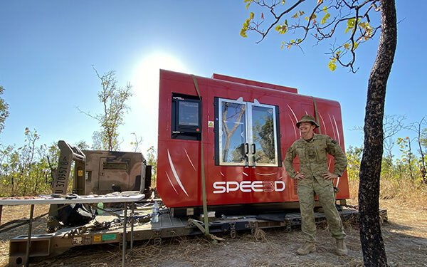 Australian Army Tests WarpSPEE3D Metal 3D Printing in the Bush