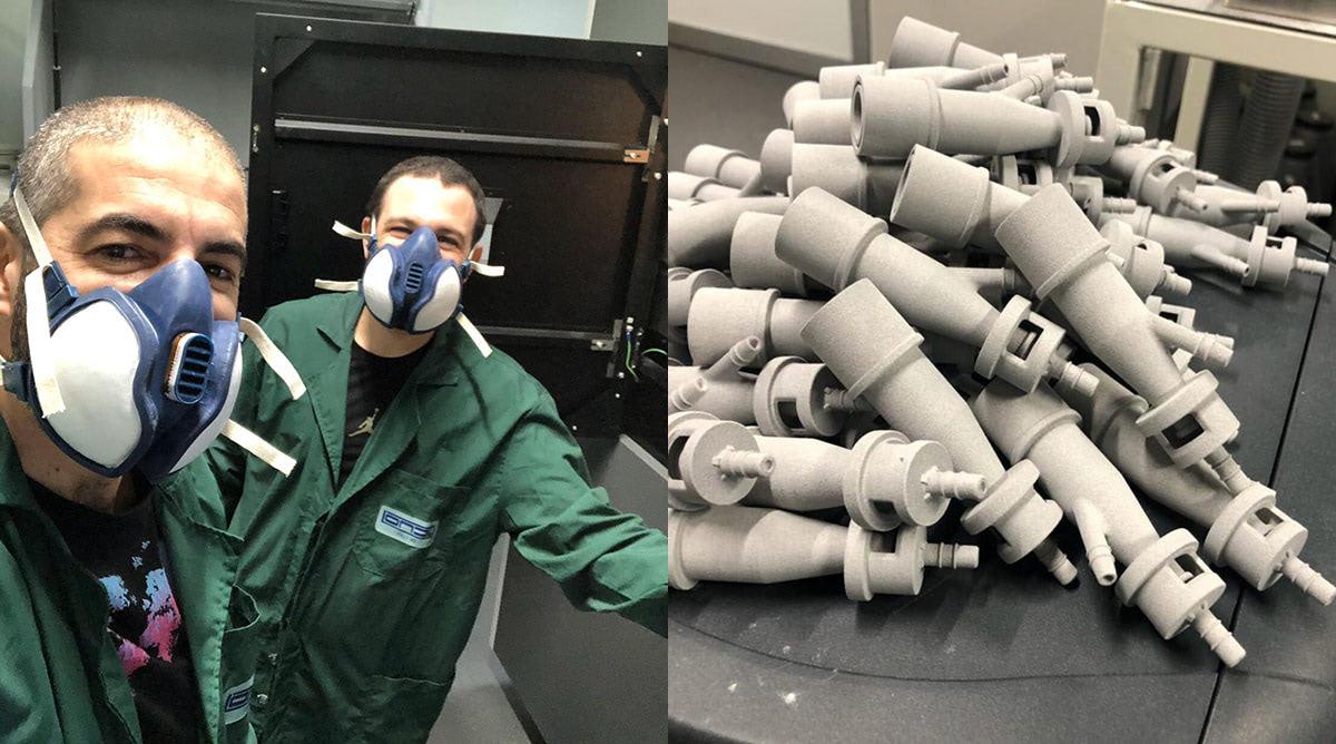 covid-19 3d printed valves selective laser sintering