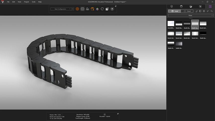 e-chain render solidworks