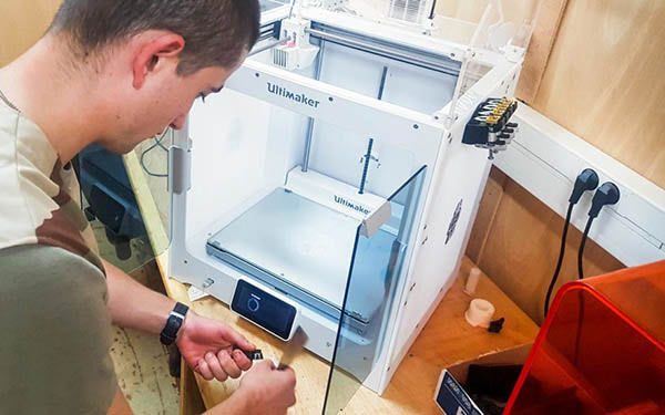 French Army 3D Print Spare Parts at Remote Bases