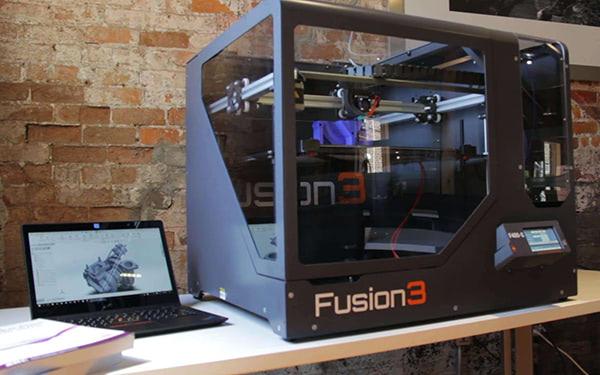 fusion 3 fully enclosed 3d printer