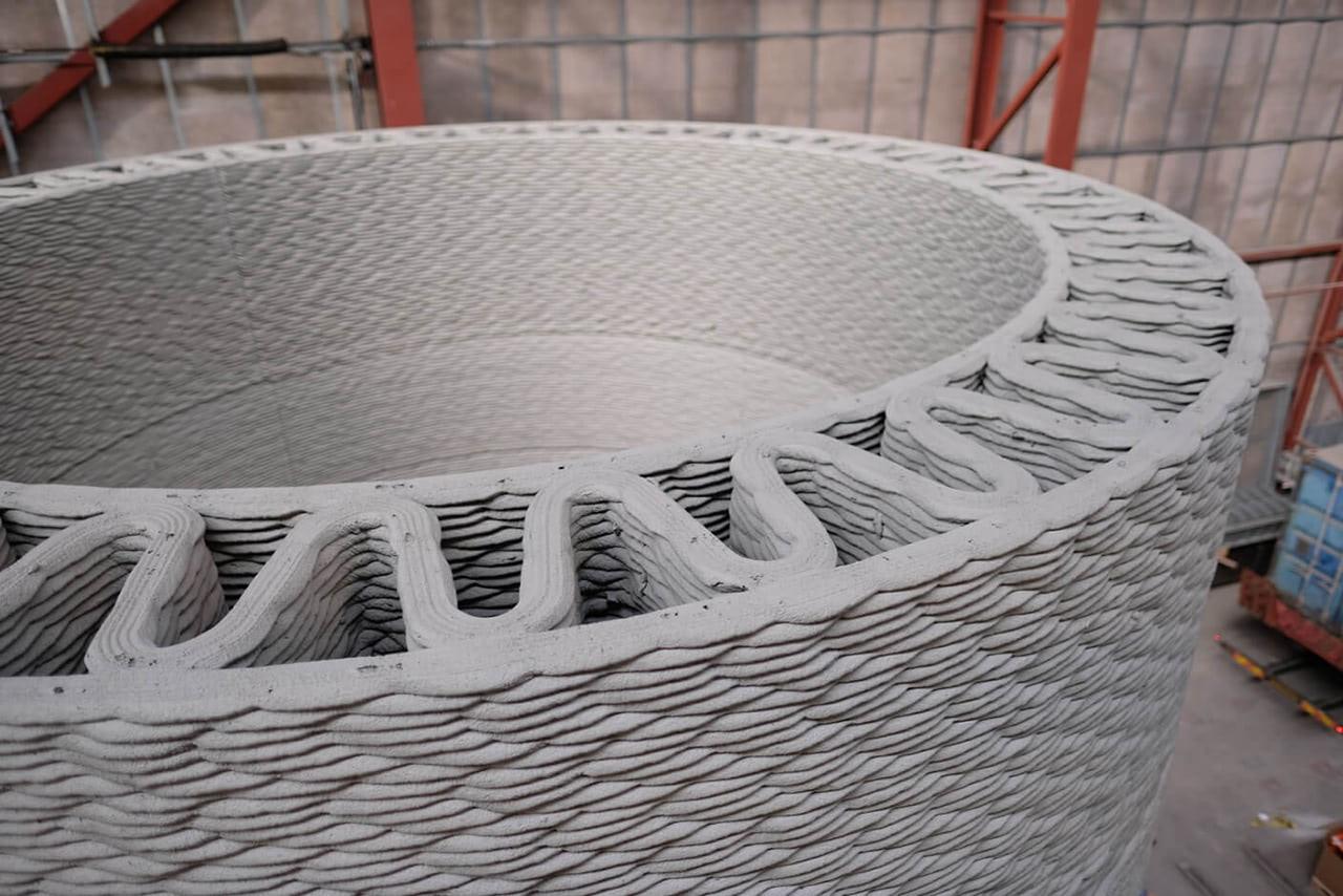 ge concrete 3D printing cobod windturbines