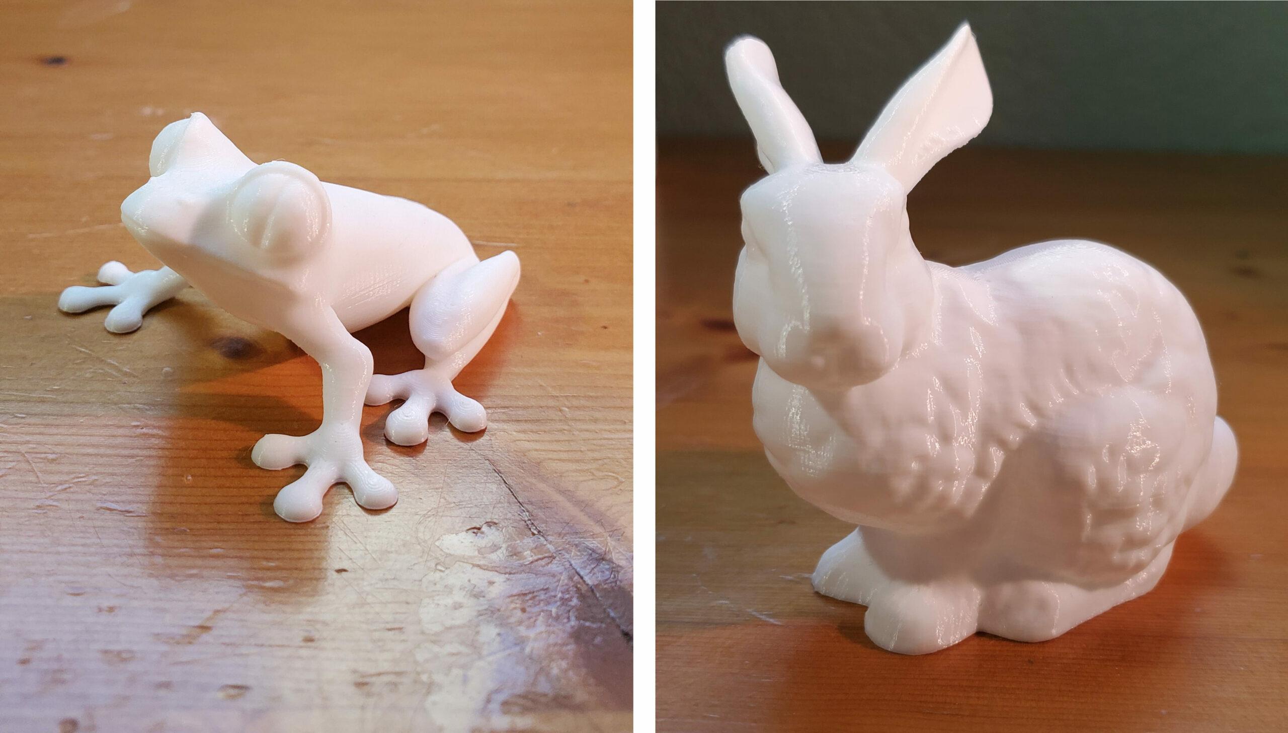guider2s treefrog bunny test prints pla