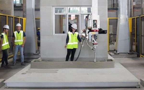 Singapore HDB Uses a Concrete 3D Printer for Construction & Landscape Furniture