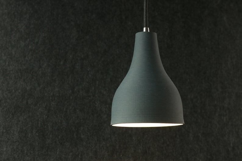 3D printed ceramic pendant light-cover