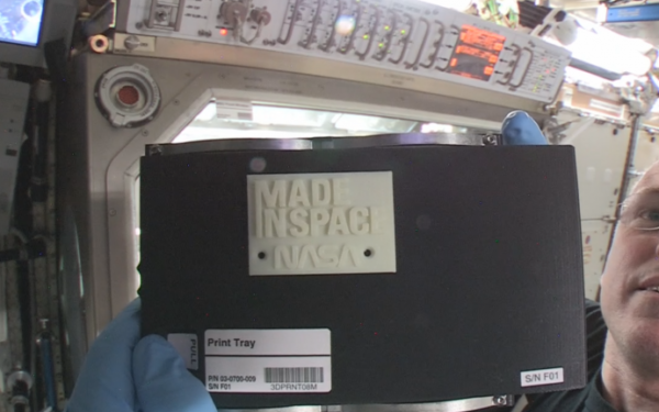 First Object 3D Printed in Space
