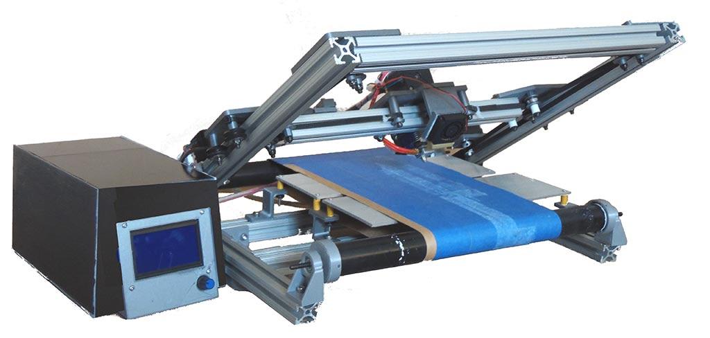 powerelt3d zero affordable conveyor belt 3d printer