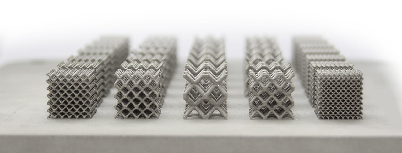 renishaw metal 3d printed lattices