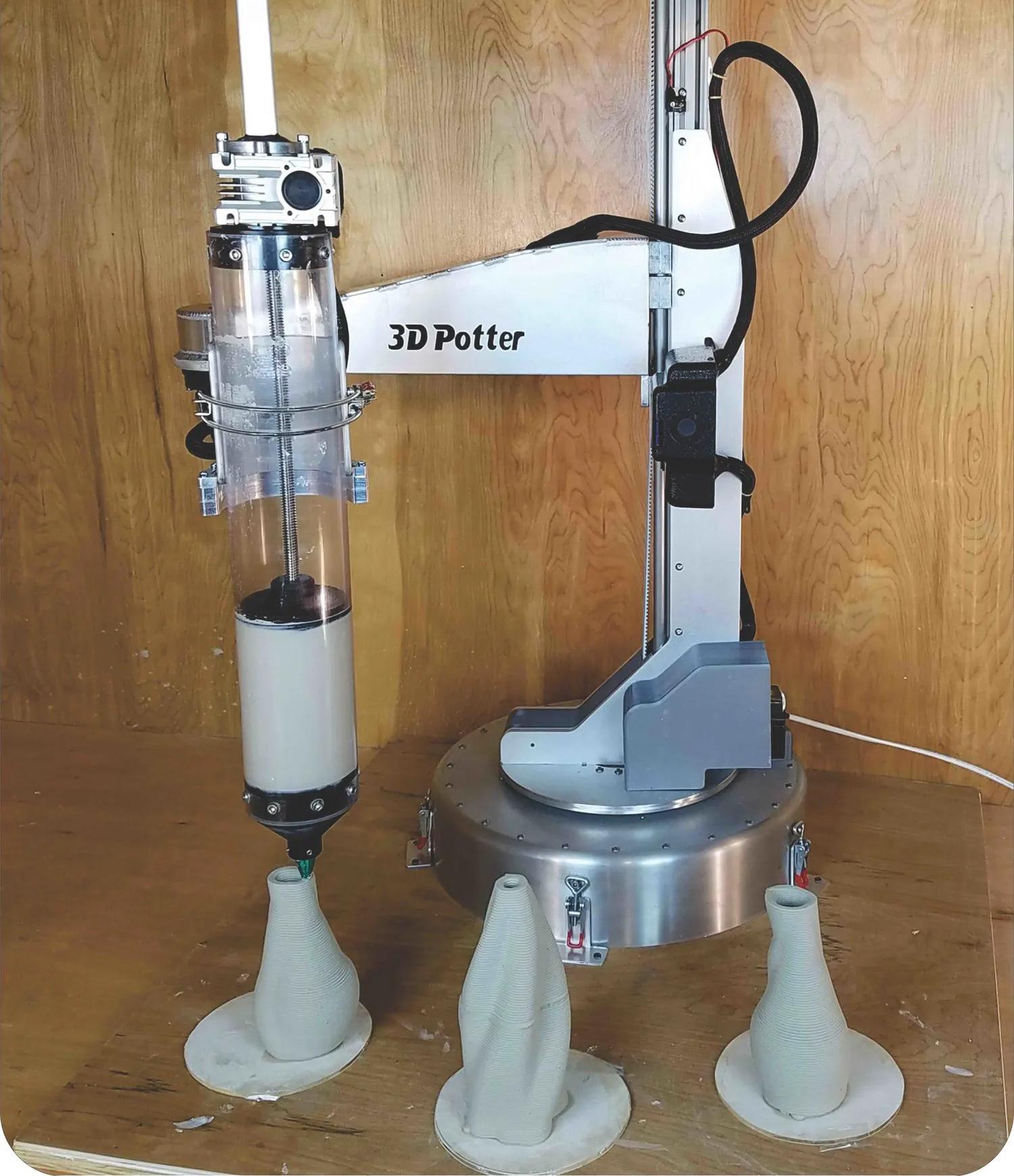 scara v4 3d potterbot ceramic & paste printing