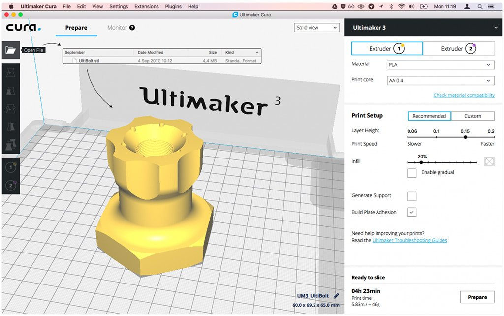 ultimaker cura open source free slicing software