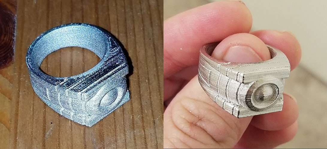 ultrafuse 316L polished ring before after